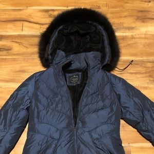 1 Madison Luxe Outerwear Navy Blue Jacket Size M